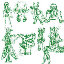 August 18th 30 minute sketch dump by Silvaks