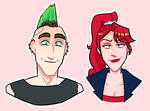 stickers: nikki and red edition by Chandler666Bing
