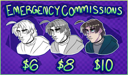 [TEMPORARY HOLD] emergency commissions! by Chandler666Bing