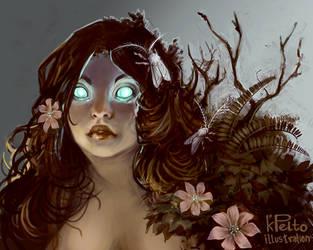 Tree Spirit by kpelto-illustration