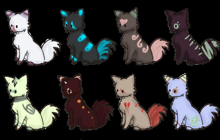 5 Point Kitties (PENDING) by PikPik-Adoption