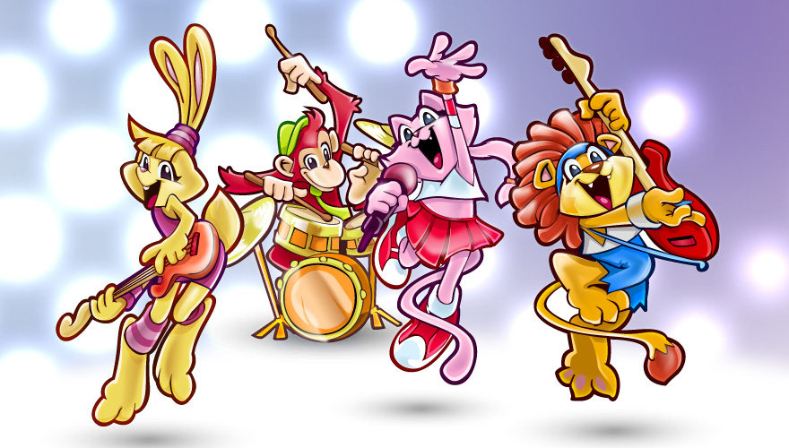 Vector Animals Rock Band by Pixeden