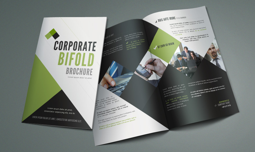 free bi fold brochure template by pixeden on deviantart