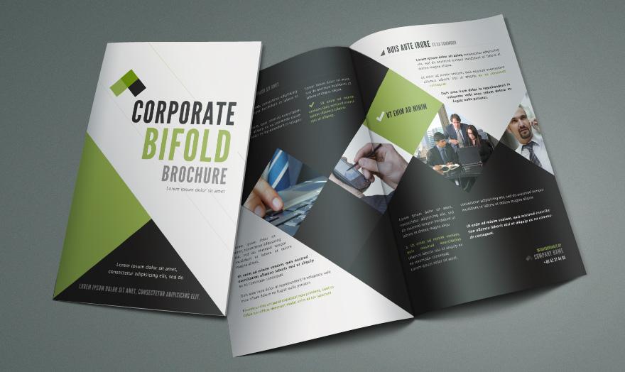 Free Bi Fold Brochure Template by Pixeden