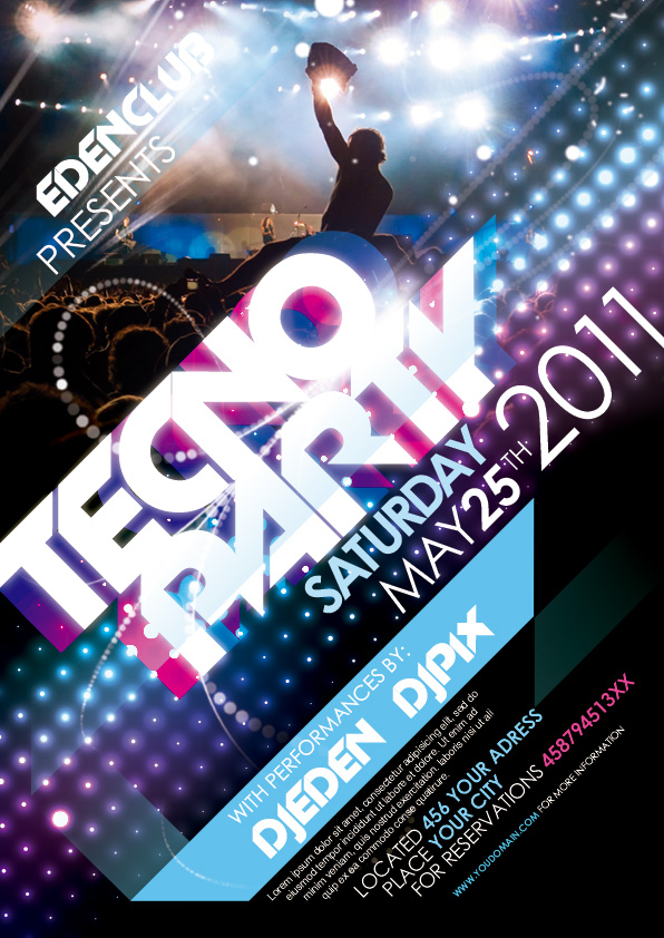 Free Party Flyer Template By Pixeden On Deviantart