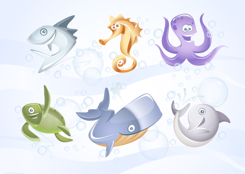 Free Marine Sea Vector Animals by Pixeden on DeviantArt