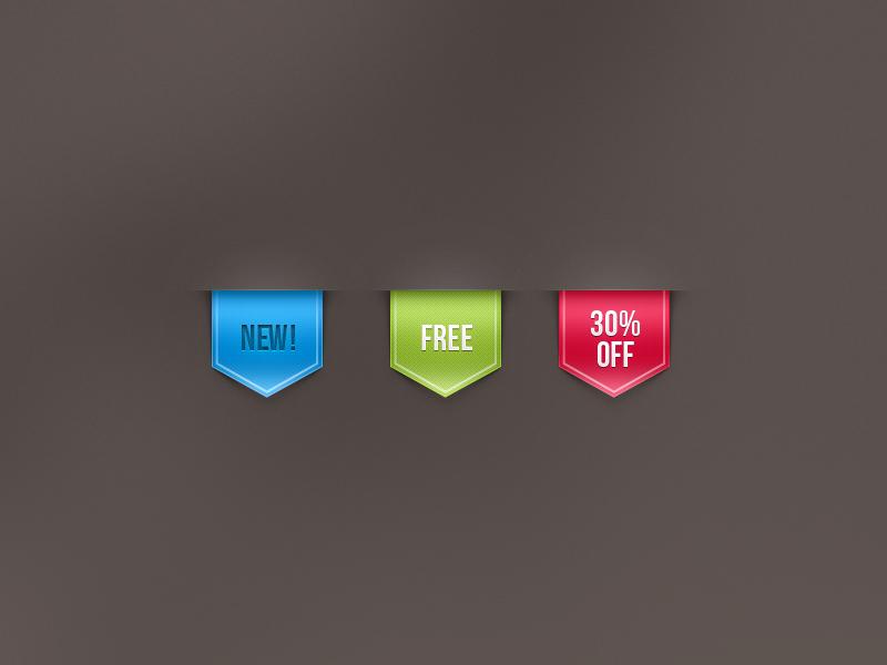 Free Web Ribbon Sale Label by Pixeden