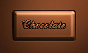 Free Psd Chocolate Text Effect
