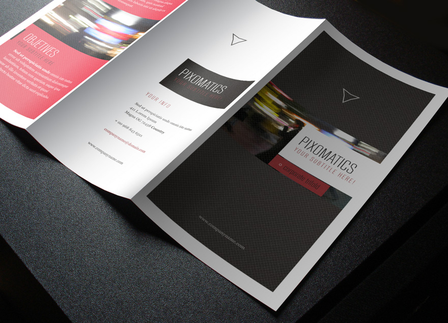 Free Tri-Fold Brochure Vol 2 by Pixeden