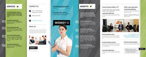 Free Tri-Fold Brochure Vol 1 by Pixeden