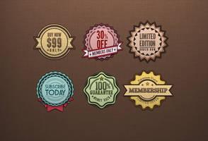 Free Retro Badges Vintage by Pixeden
