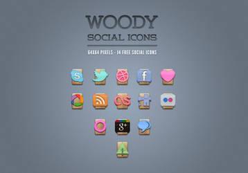 Free Wood Social Icons Vol1