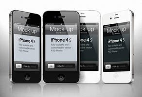Free iphone 4s Psd Vector