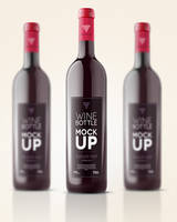 Free Psd Wine Bottle Mockup Template by Pixeden