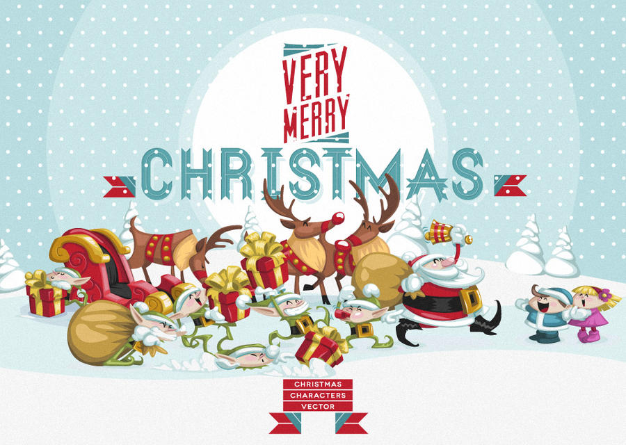 Free Christmas Vector Art Characters Pack by Pixeden on DeviantArt