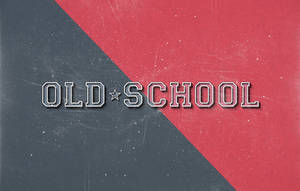 Free Old School Retro Psd Text Effect by Pixeden