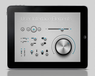 Free iPhone and Ipad App UI Kit Psd by Pixeden