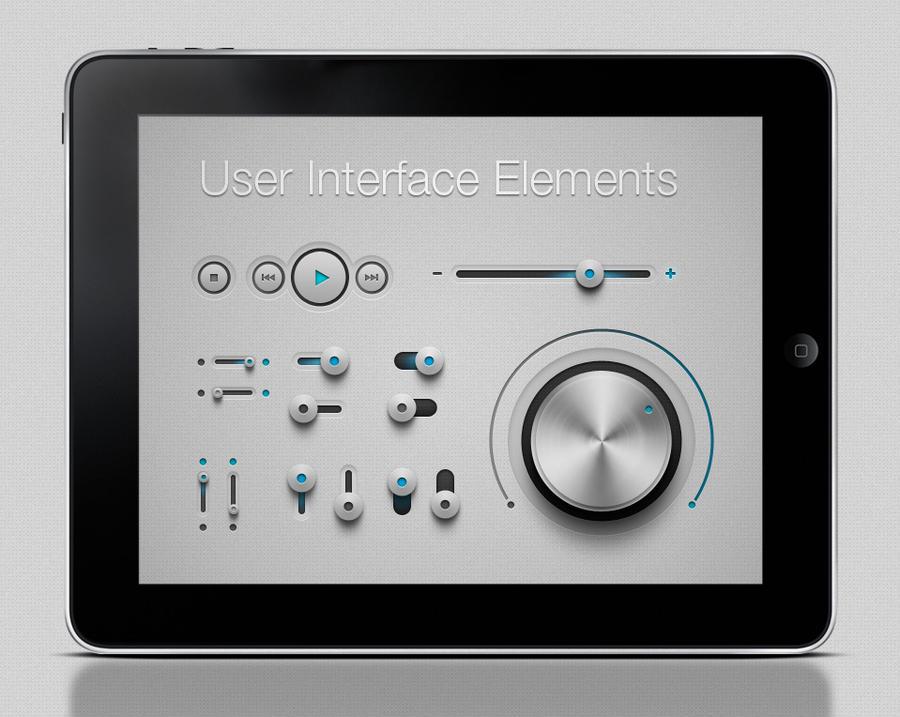Free iPhone and Ipad App UI Kit Psd