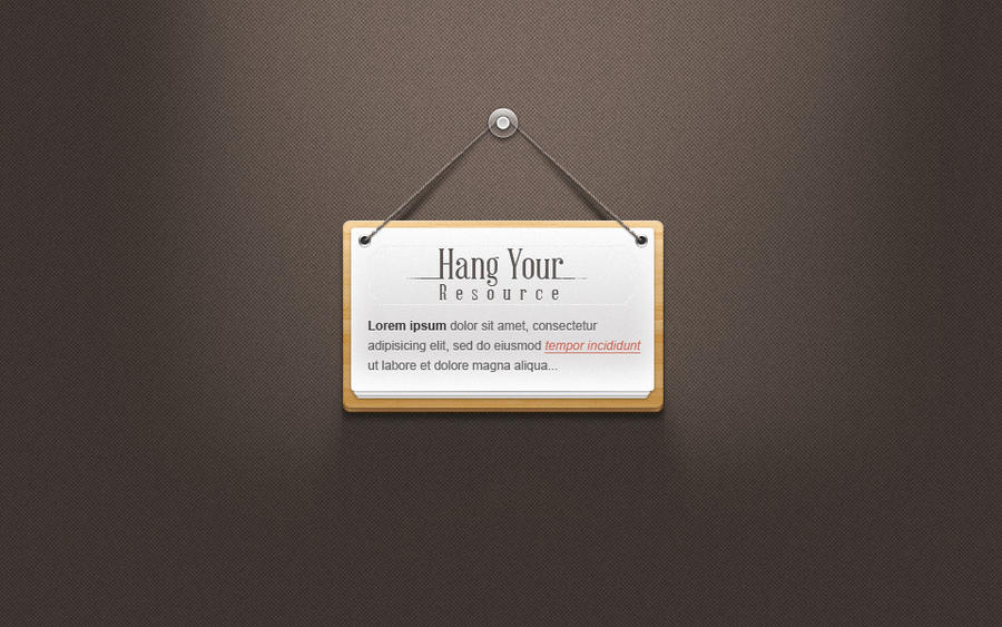 Free Hanging Note Sign Psd by Pixeden