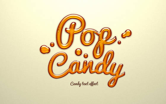 Free Psd Candy Text Effect