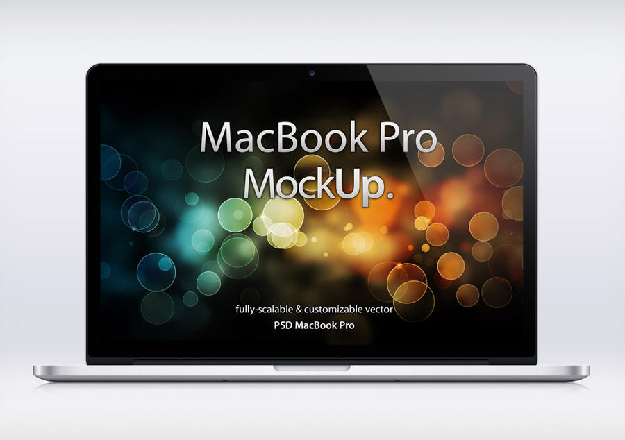 Free MacBook Pro Retina Psd Mockup by Pixeden