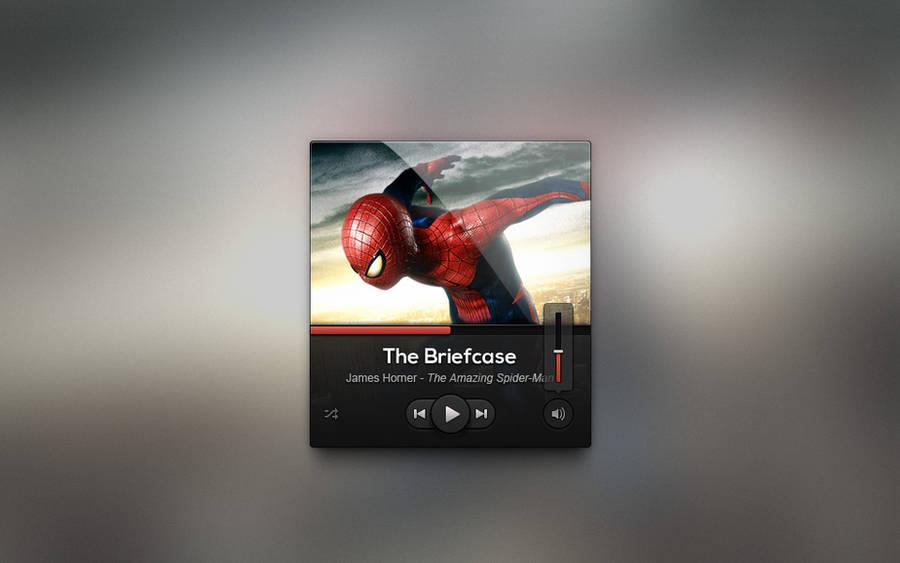 Free Dark UI Music Player Design Psd by Pixeden