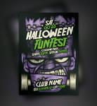 Free Franky Halloween Flyer Template
