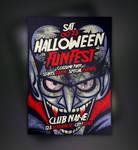 Free Vampire Halloween Flyer Template
