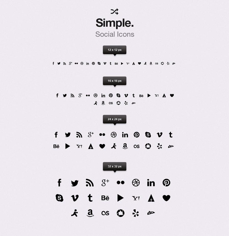 Free Simple Social Icons vol1