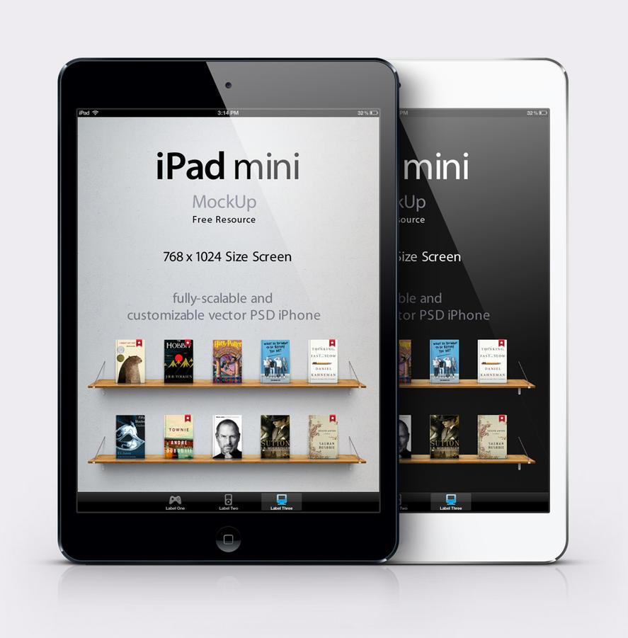ipad mini psd vector mockup by pixeden on deviantart. Black Bedroom Furniture Sets. Home Design Ideas