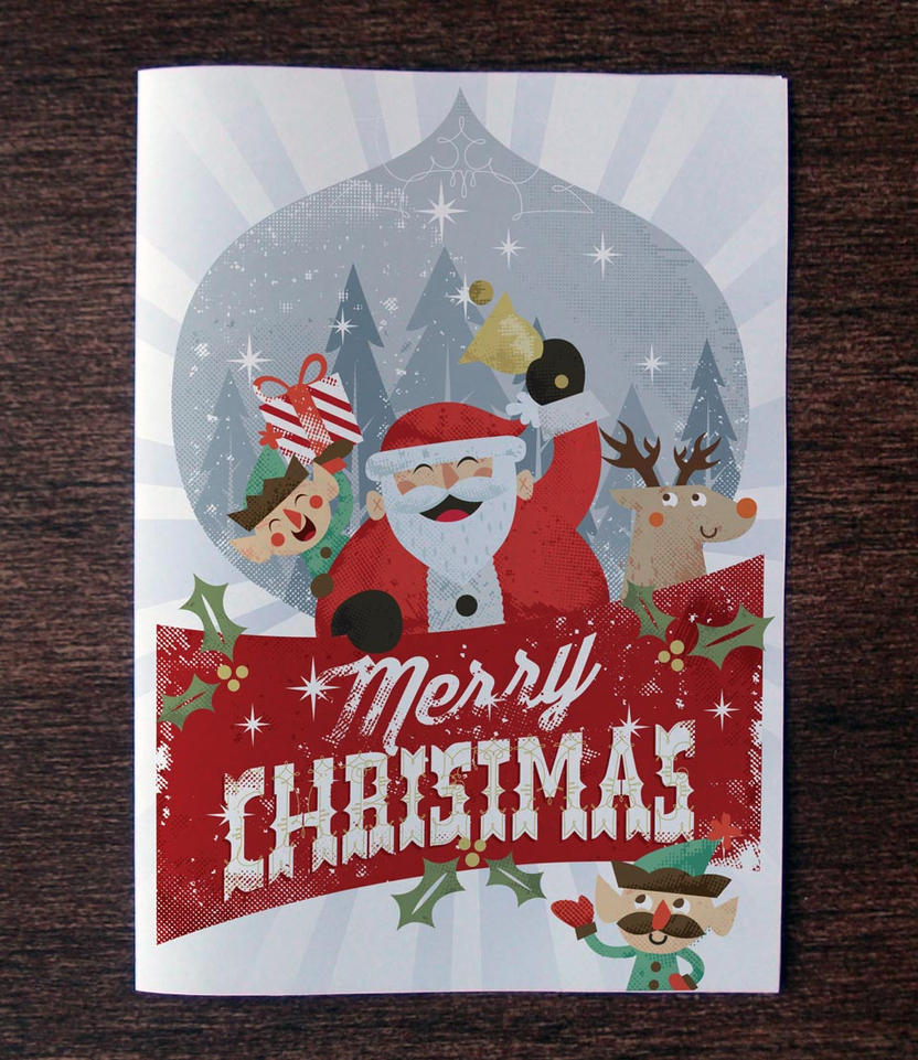 free christmas card invitation templatepixeden on