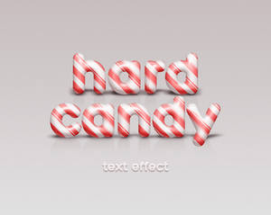 Free Psd Candy Cane Text Effect
