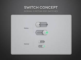 Free Psd Toggle Switch UI