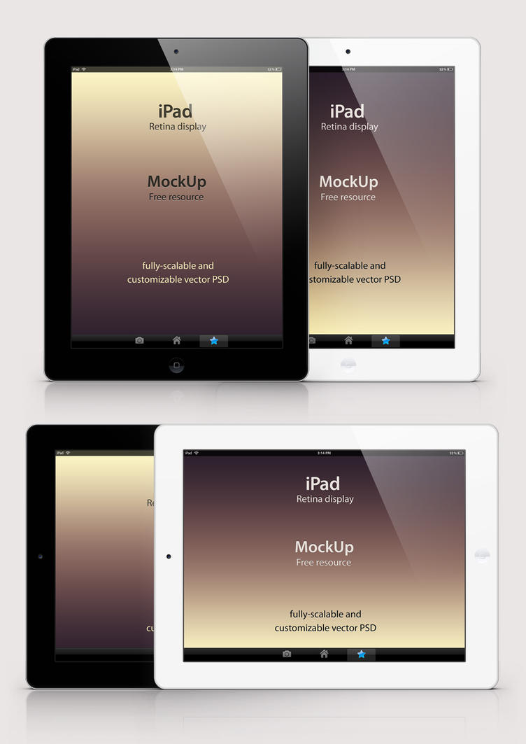 free psd ipad retina mockup templatepixeden on deviantart, Powerpoint templates