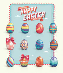 Free Vector Easter Eggs Set