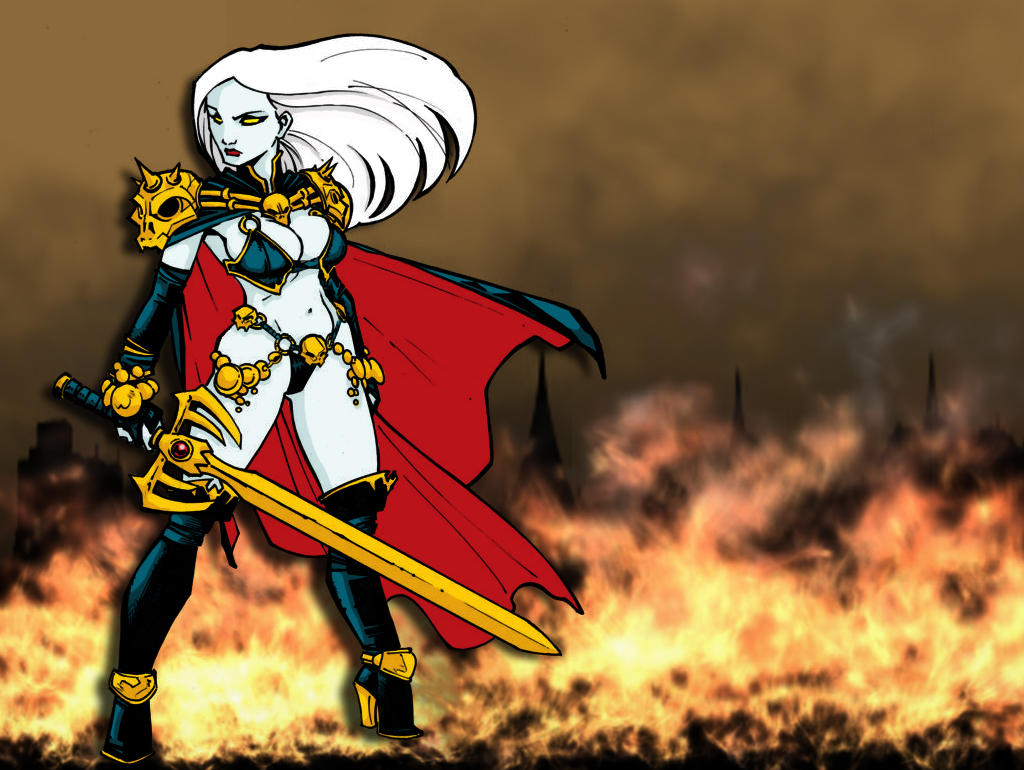 Get Lady Death Wallpaper  PNG