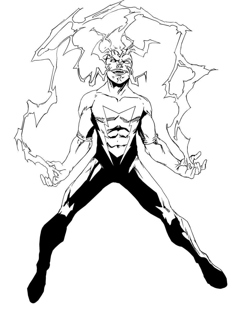 Drawing Red Lines With Green Ink : Electro redesign inks by chungusamongus on deviantart
