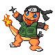 Ninja Charmander (Sprite) by KajiAtsui