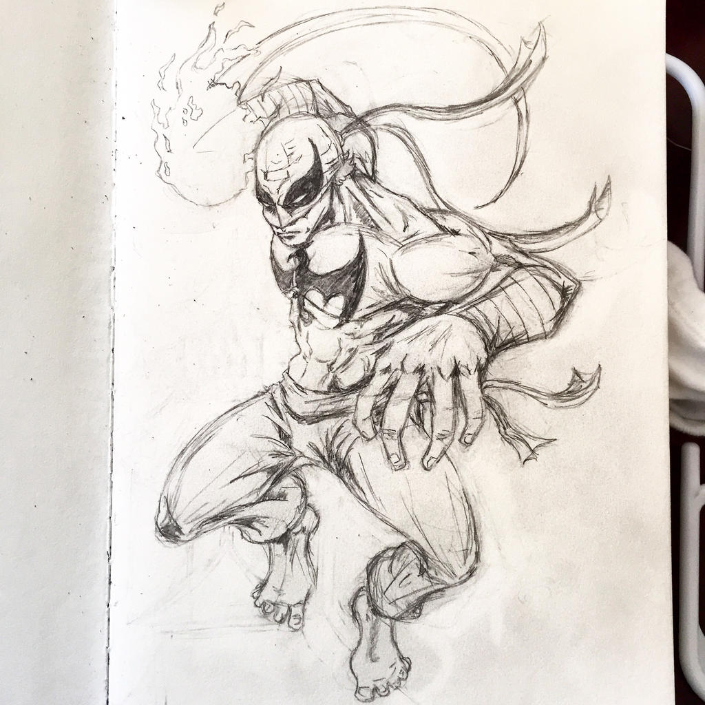 Iron fist sketch by cmdelaney88 on deviantart