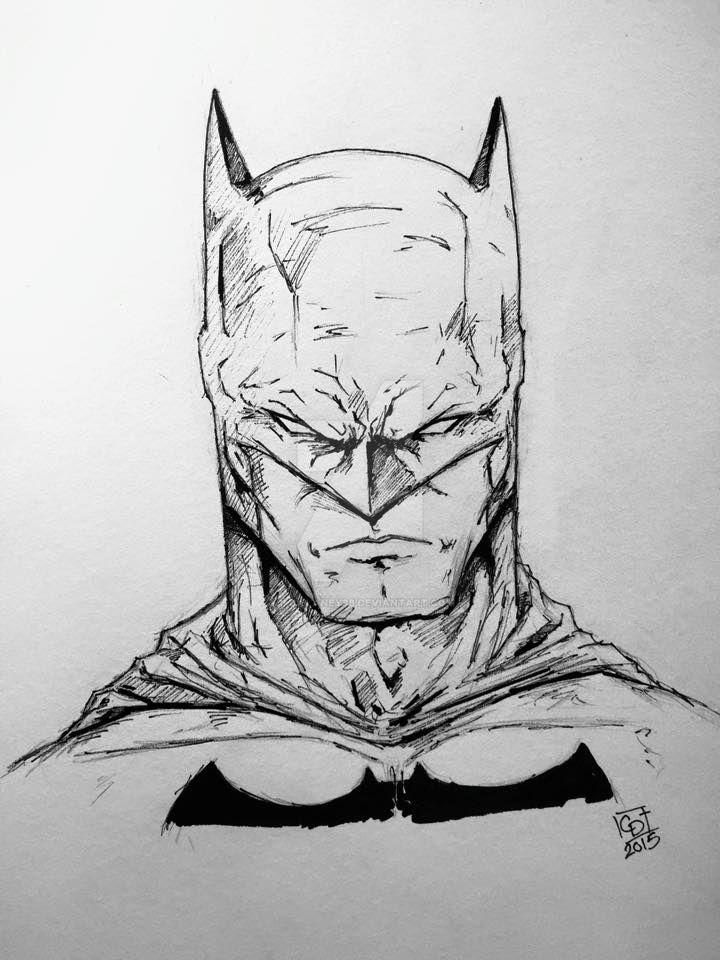 Batman Head Sketch By Cmdelaney88 On DeviantArt