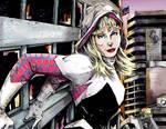 Spider-Gwen Cityscape