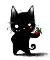 Kitty Likes Strawberries by Plognark