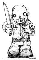 Chibi Zombie by Plognark