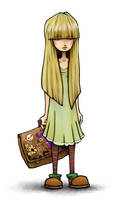 Girl With Courier Bag by Plognark
