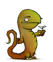 Martini Lizard by Plognark