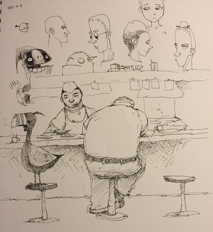 Random Doodles 2015-3-4 by Plognark