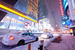 Times Sqaure Under Snow
