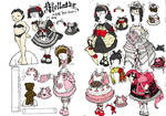 Gothic Lolita Paper Doll WIP