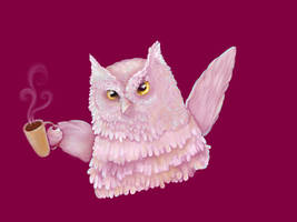 Coffee Owl by NickiDoodles