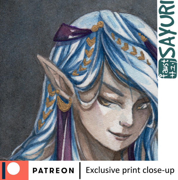 July exclusive print close-up by faust-sayuri